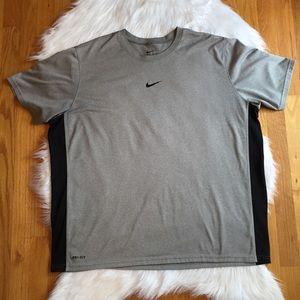 Mens Nike Gray and Black DriFit Shirt XXL